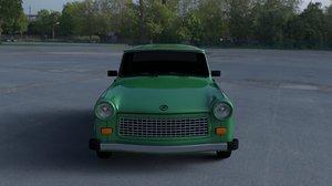3d trabant 601 estate hdri