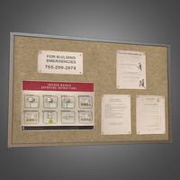 Laundromat Bulletin Board - PBR Game Ready