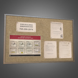 3d laundromat bulletin board -