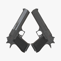 Generic Pistol 3D Model