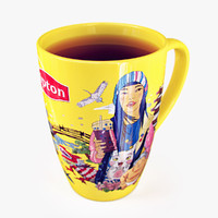 3d japanese lipton cup tea model