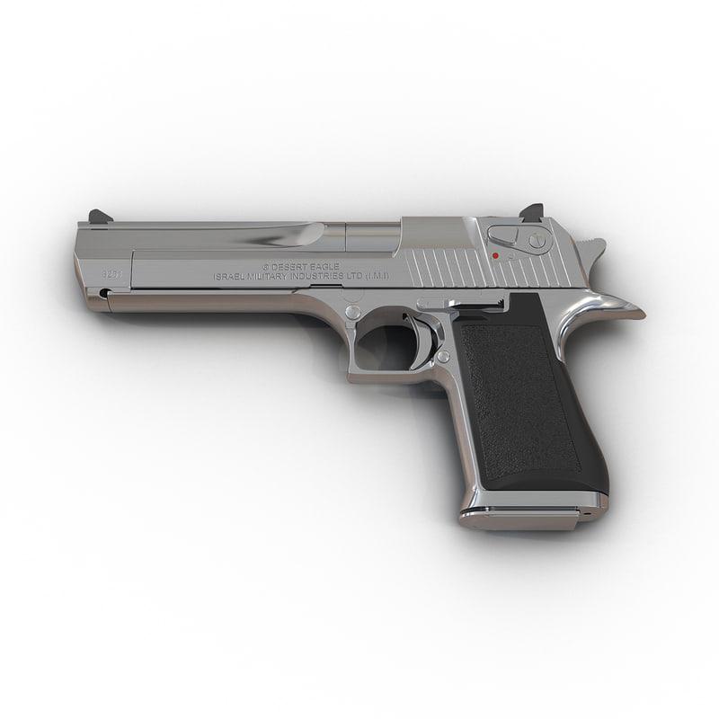3d model of pistol imi desert eagle