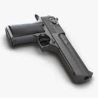 3d model pistol imi desert eagle