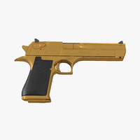 Pistol IMI Desert Eagle Golden