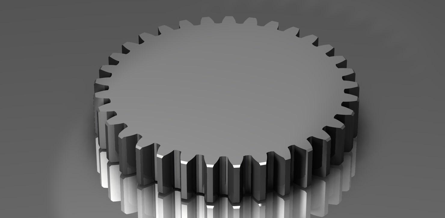 3d model spur gear 48 48p