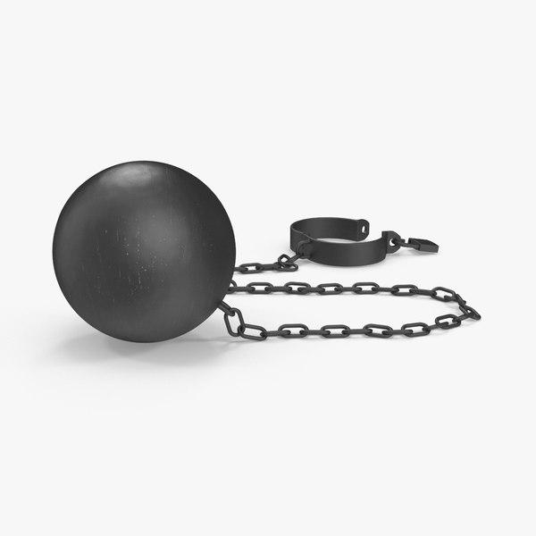 open ball chain 3d model
