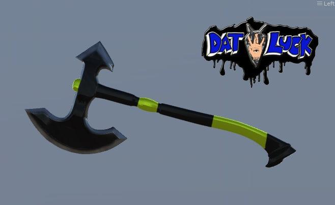 luck battle axe 3d model
