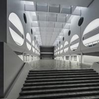 public hall interior 3d model