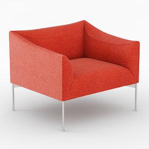 armchair chair bow 3d model