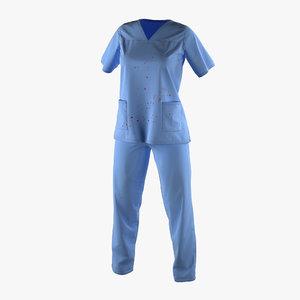 female surgeon dress 17 3d max