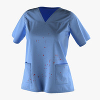 3d model female surgeon dress 18