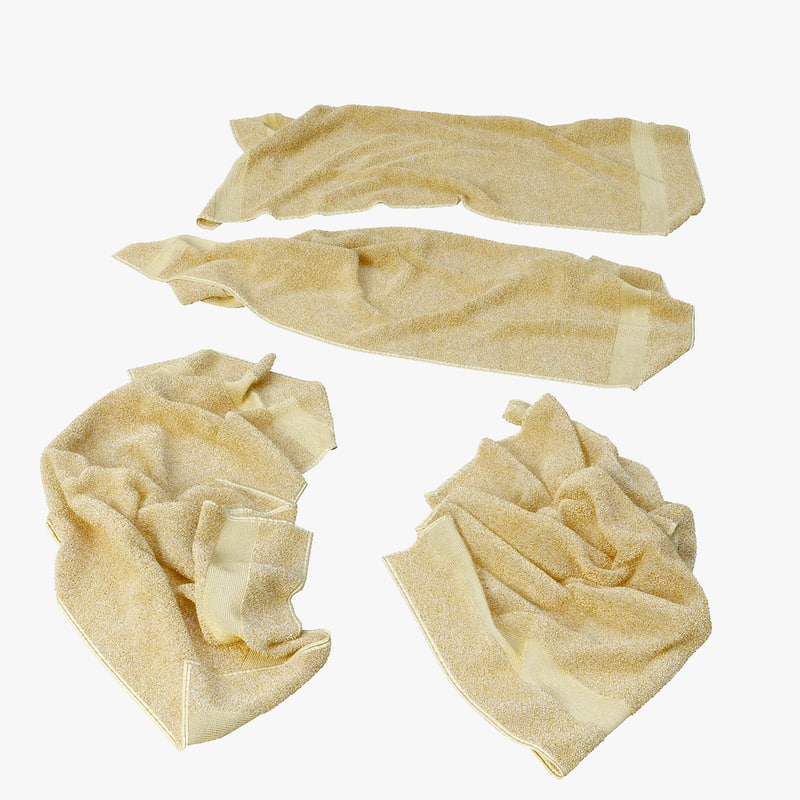 3d fallen towels