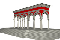 renaissance colonnade 3d model