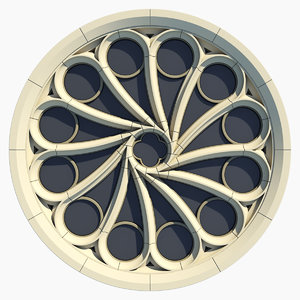 small gothic rose window 3ds