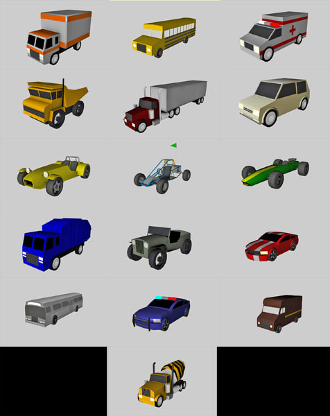 car pack games 3d dxf