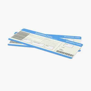 pair airline tickets 3d max