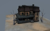 3d haunted house model