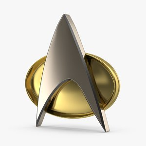star trek communicator badge 3d model
