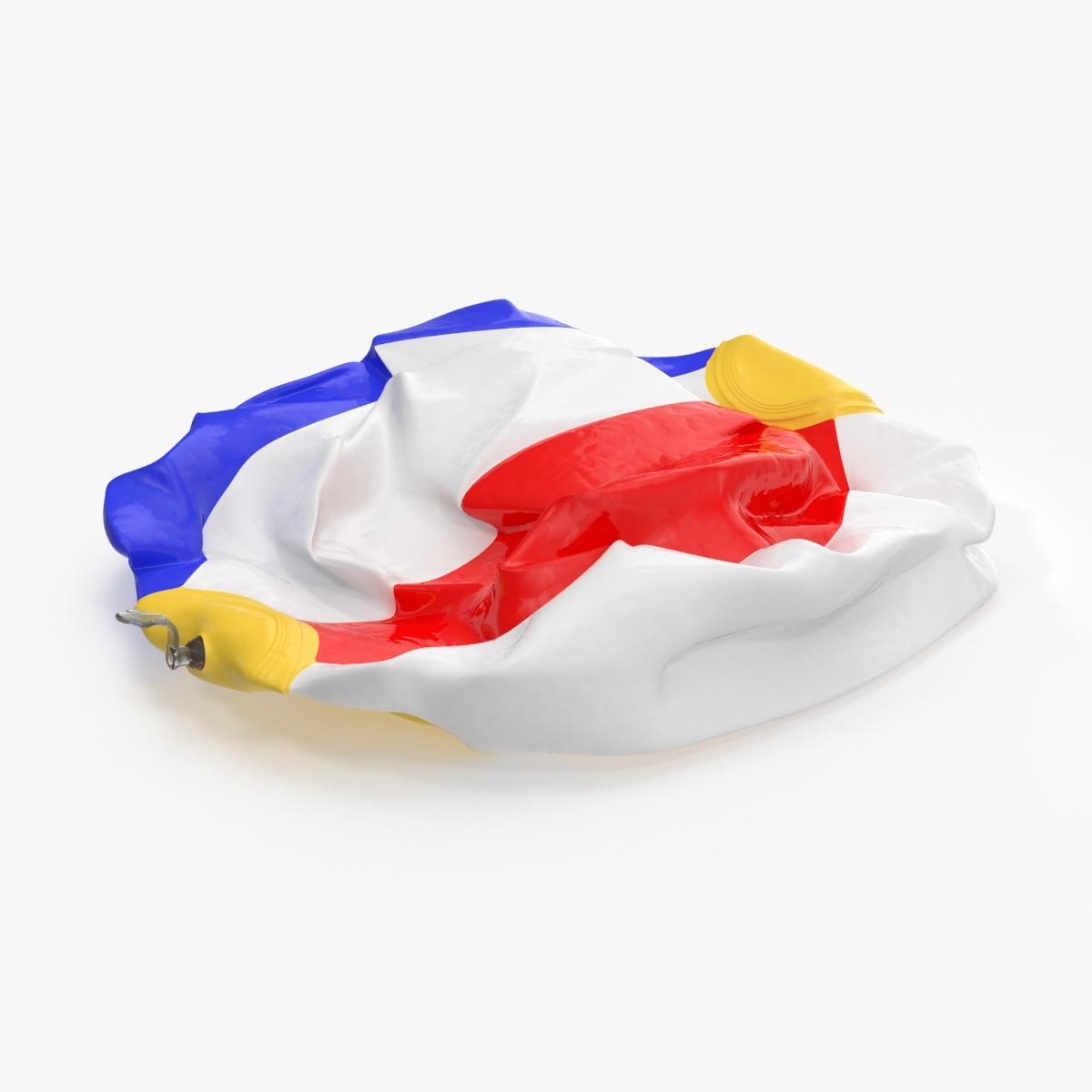 deflated beach ball 3d model