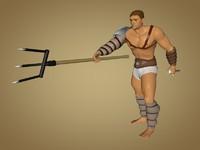 gladiator retiarius 3d model