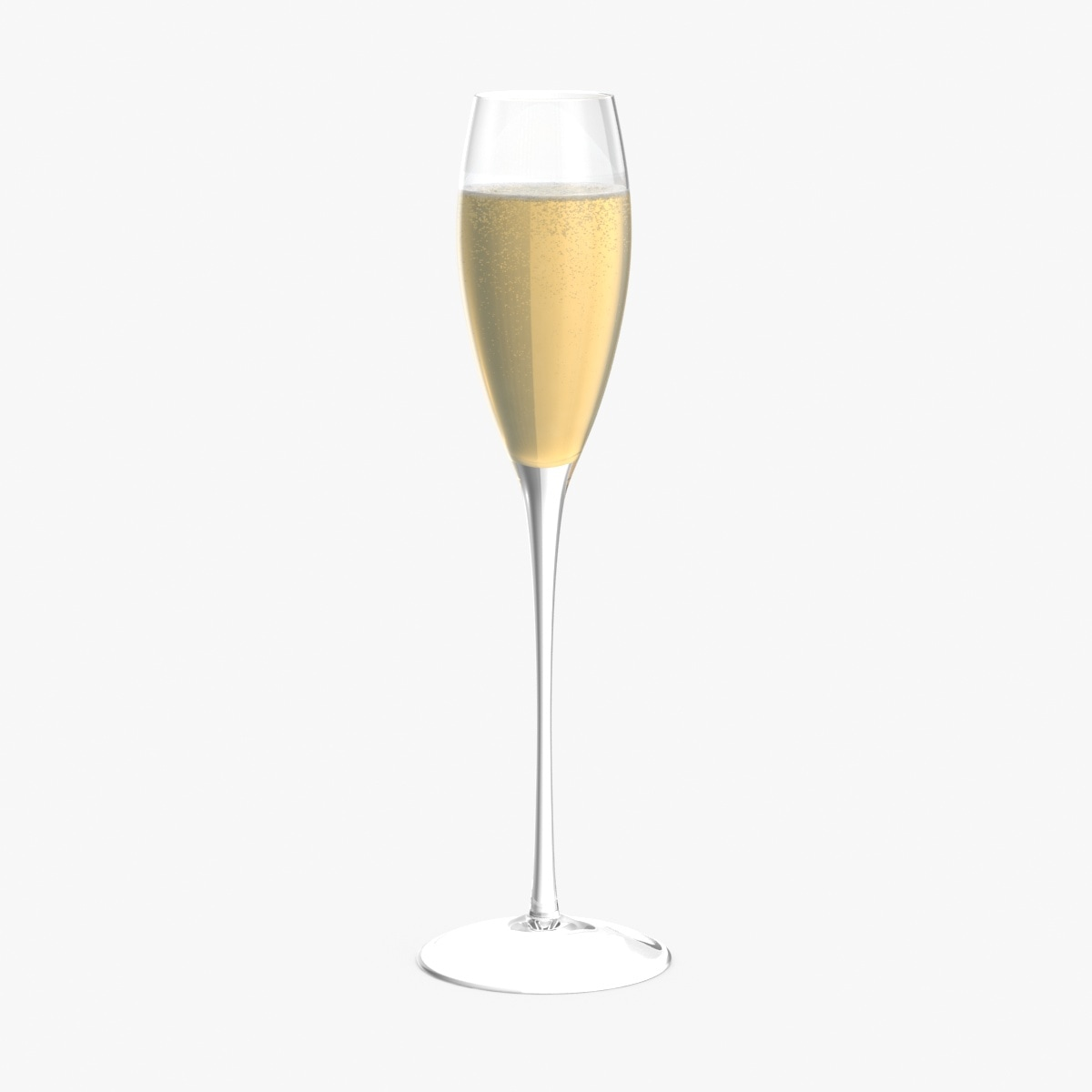 3d champagne flute model