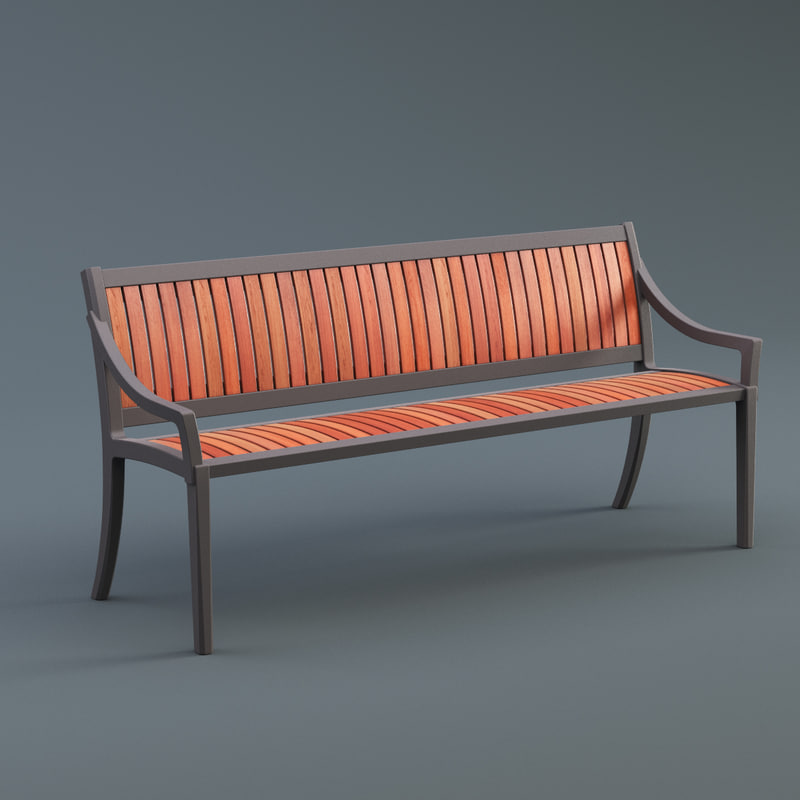 outdoor cordia bench max