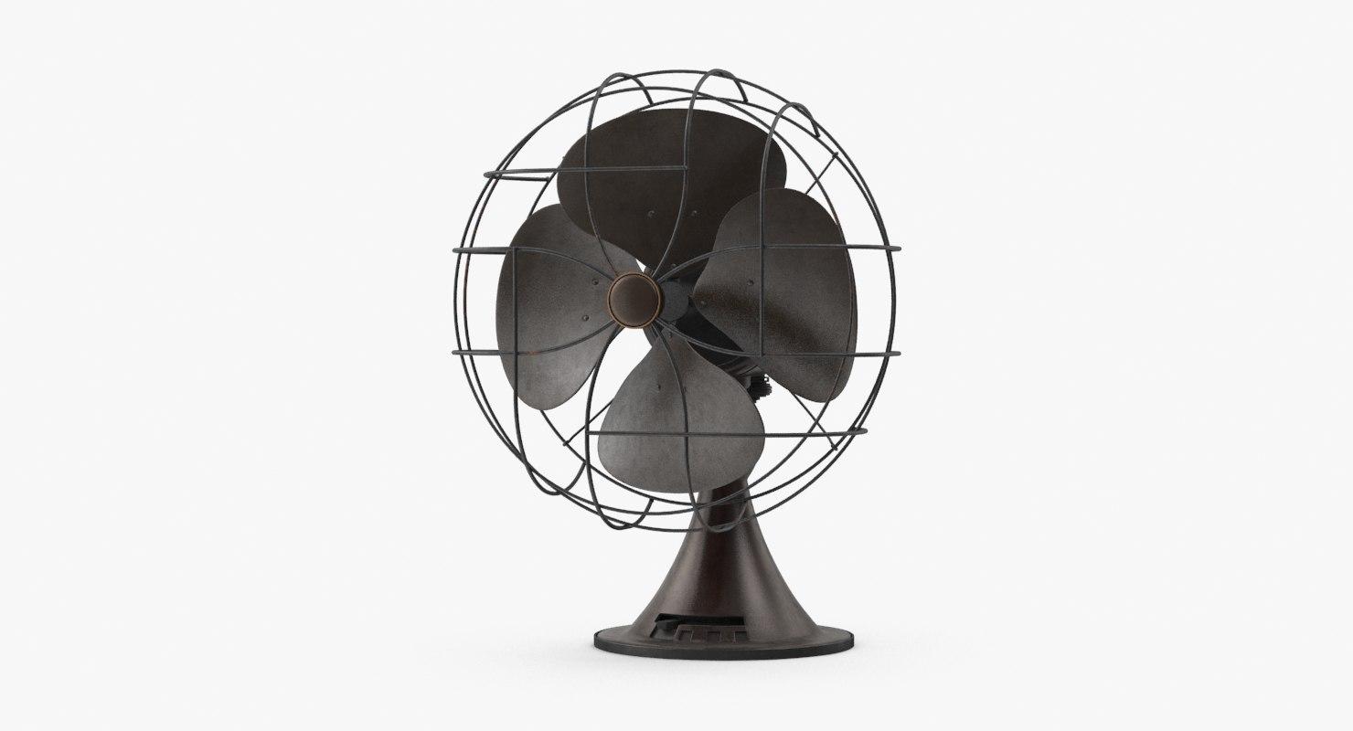 3d desk fan model