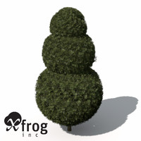 3dsmax xfrogplants false cypress bushes