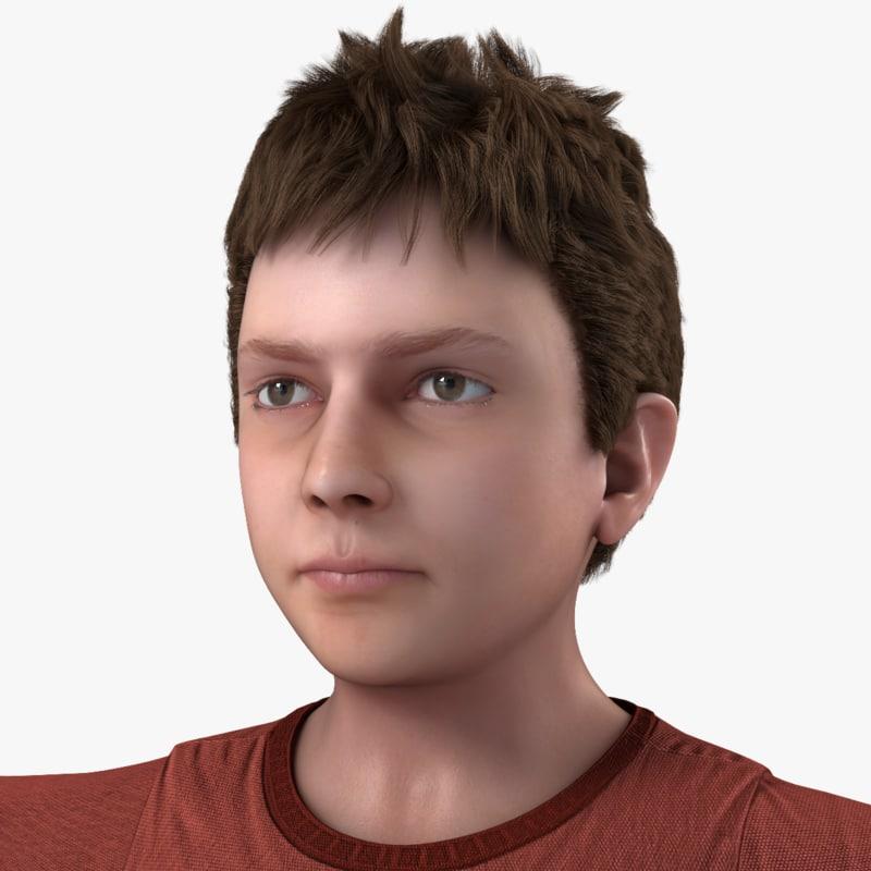 3d realistic boy real model