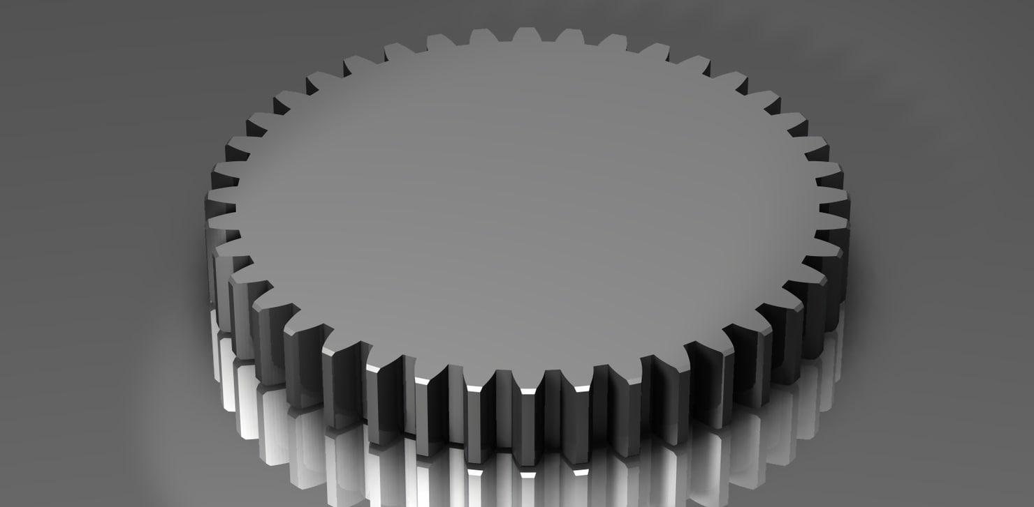 spur gear 48 48p dxf