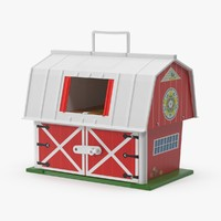 vintage fisher price barn 3d model