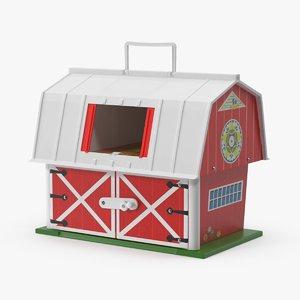 vintage fisher price barn 3d model