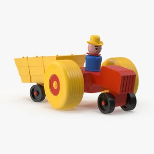 3d vintage fisher price toytractor