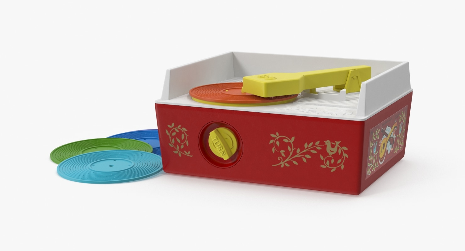 vintage fisher price record player 3d max