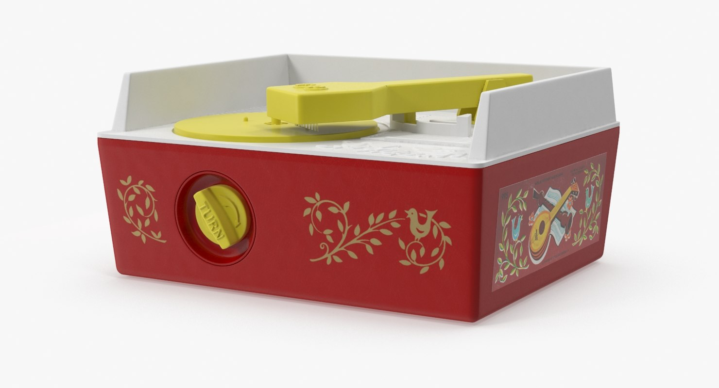 3d model vintage fisher price record player