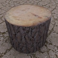 Wood Chopping Block 3D Model