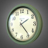Plastic Indoor Wall Clock - PBR Game Ready