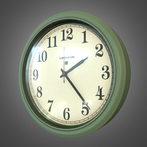 plastic indoor wall clock obj