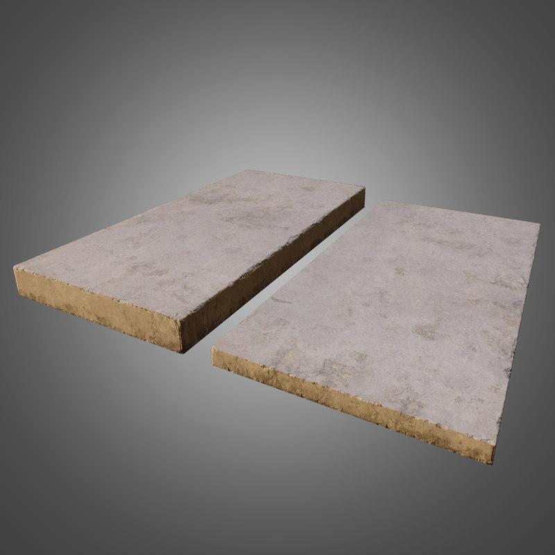 concrete pbr ready - 3d obj