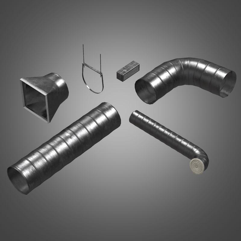 3d metal tube ventilation set