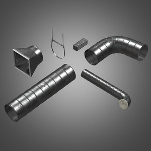 3d metal tube ventilation set