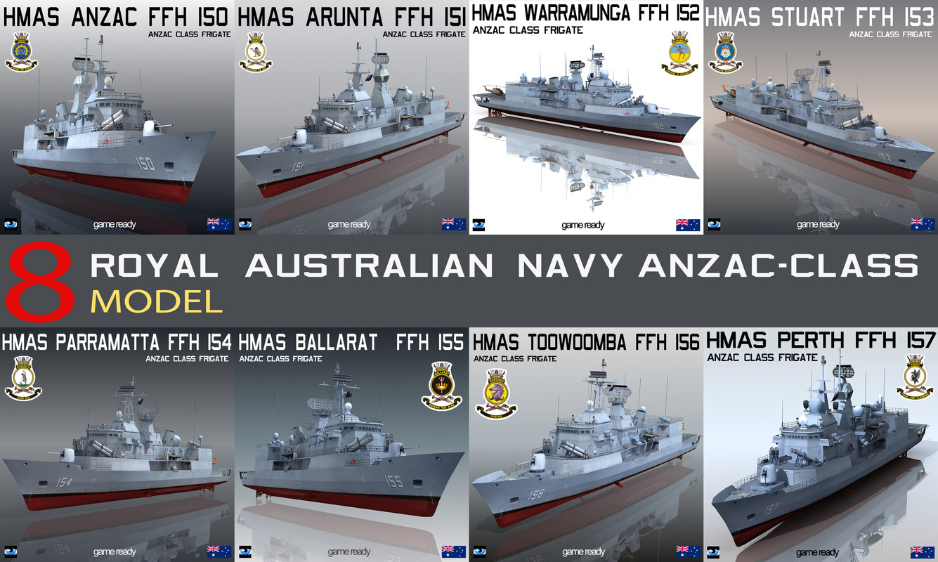 royal australian navy anzac 3d model