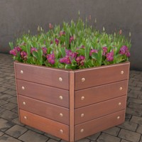city street flower tub 3ds