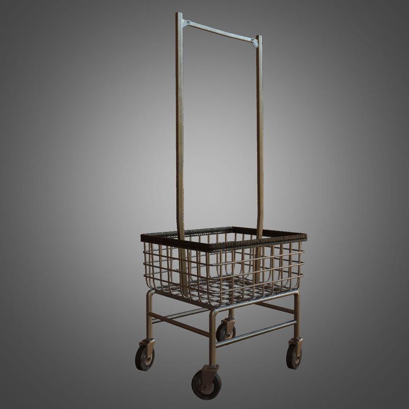 laundromat cart - pbr 3d model