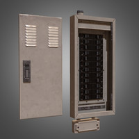 fuse box 3d models turbosquid com 3d model electrical fuse box