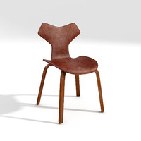 3d obj fritz hansen dining chair