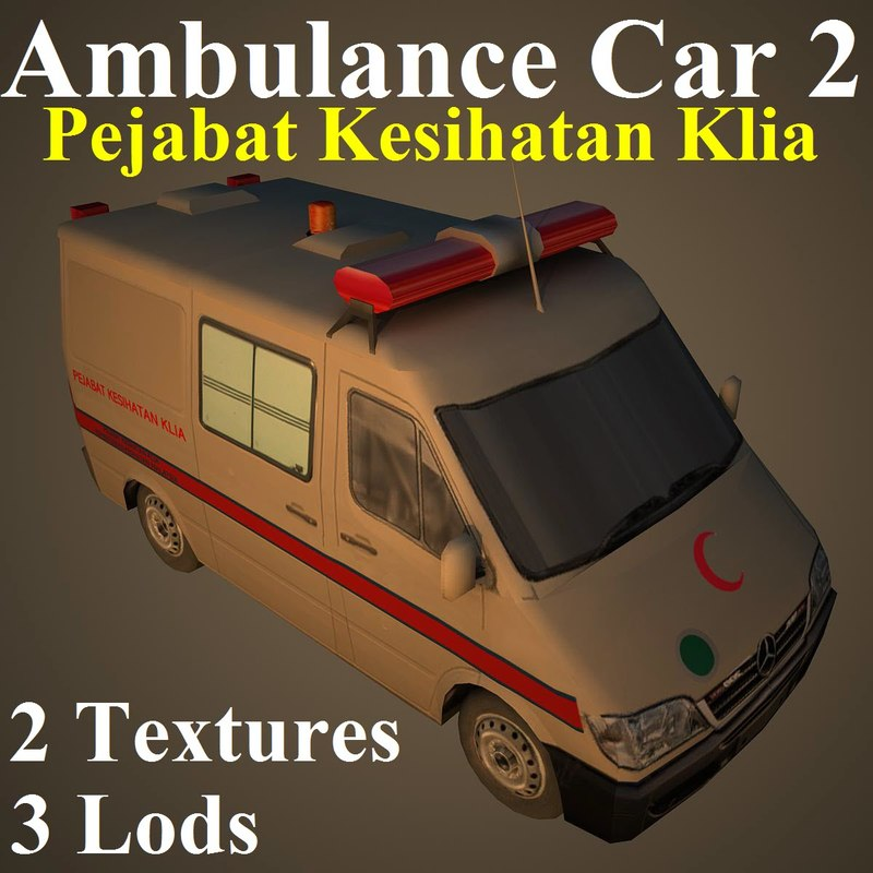 ambulance car mas 3d max