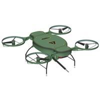 drone warrior concept 3d model