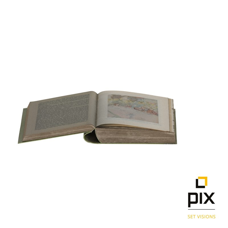 realistic old book worn 3d max
