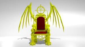 3d king throne model